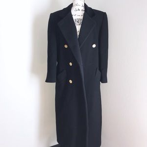 Vintage Bill Blass Signature Wool Trench Coat